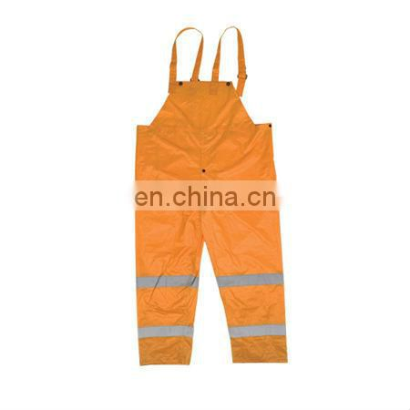 Economy High Visibility Reflective Rain Bib Pants Conforms to EN471