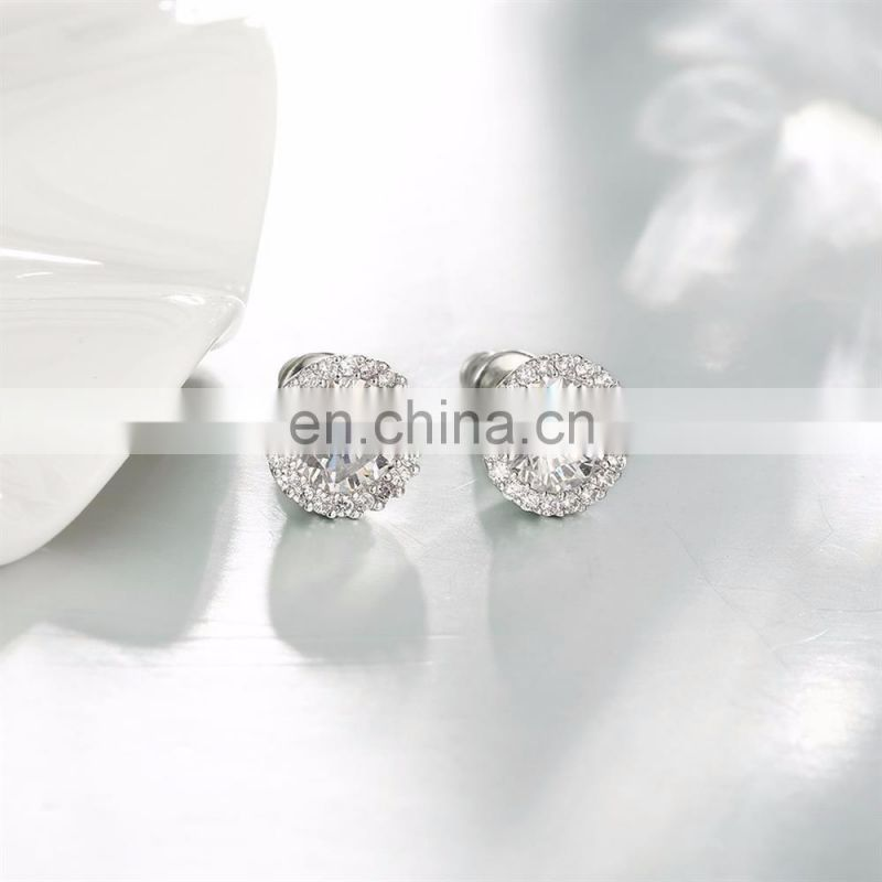 Latest Design of Round Diamond Earrings for Girls Jewelry with Best Price