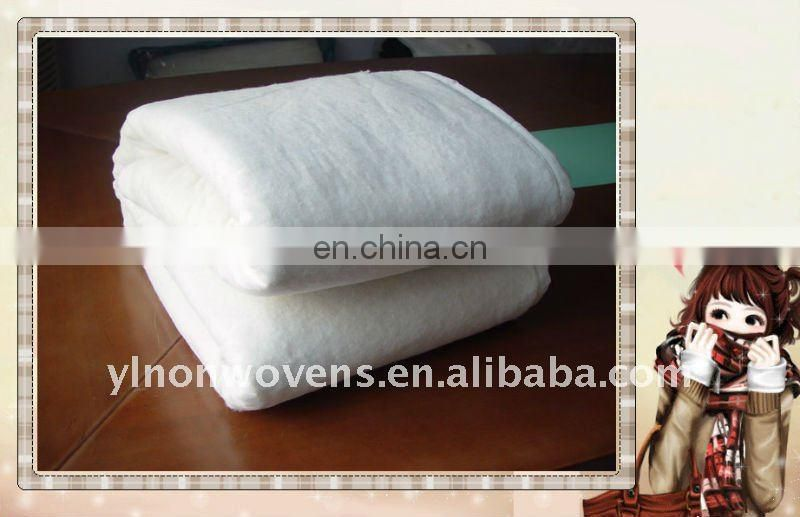 High CLO value non-woven 60%cotton 40%PET wadding as filling in garment/bedding