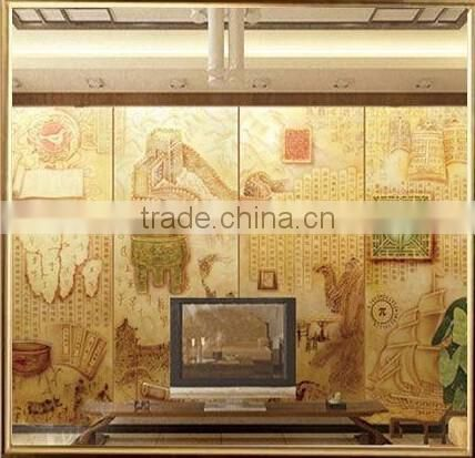 2016 New Style Colourful Art Printing Glass TV Background and ...