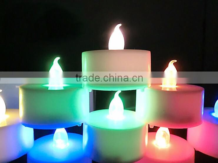 CL210804RC Rechargeable led color changing candle lights with remote control light up candle bulb