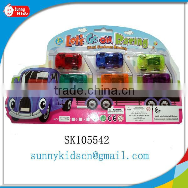 Promotional plastic pull back car pull back toy