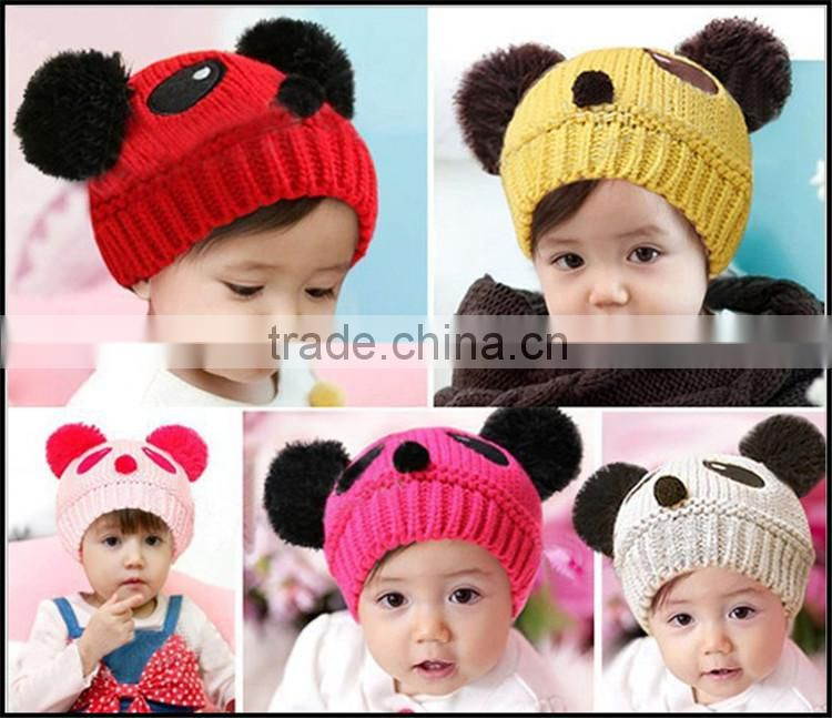 Many Colors Newborn Baby Photo Props Knot Hats Hand Crochet Photography Props Hat Crochet Cap