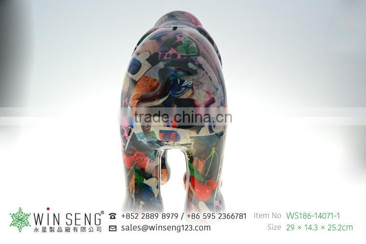 large lovely promotion gifts painting ceramic elephant saving bank