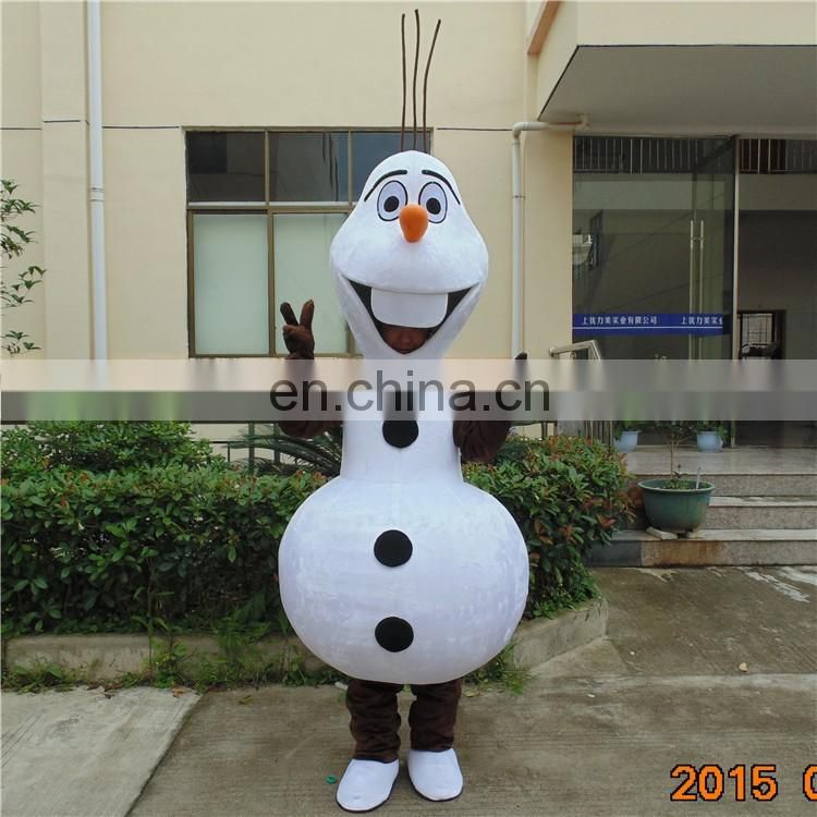 2017 best seller christamas mascot frozen snowman mascot costume for adult