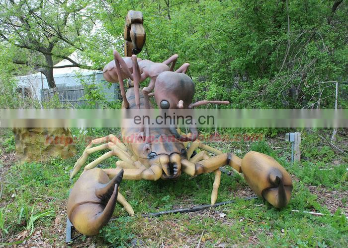 Theme park animated robot insect model