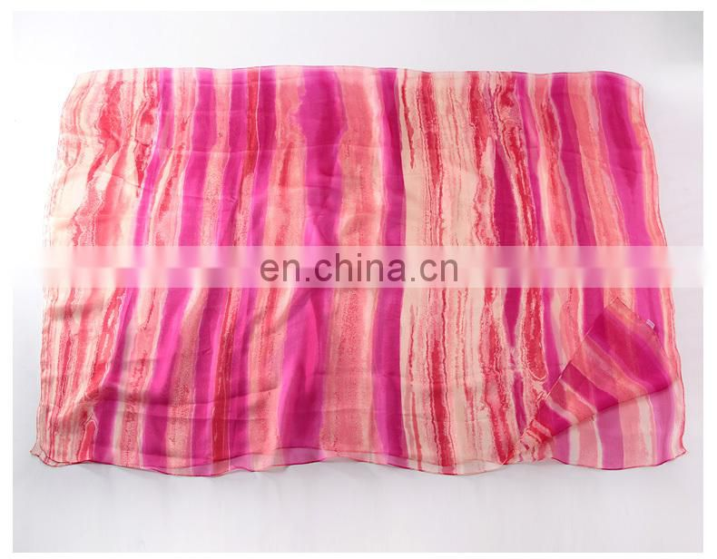 New chiffon georgette silk scarf women bohemia long spring and autumn printed scarves and wraps sunscreen cape