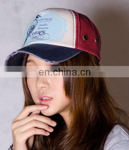 peaked Fashion Trucker Cap with 100% cotton