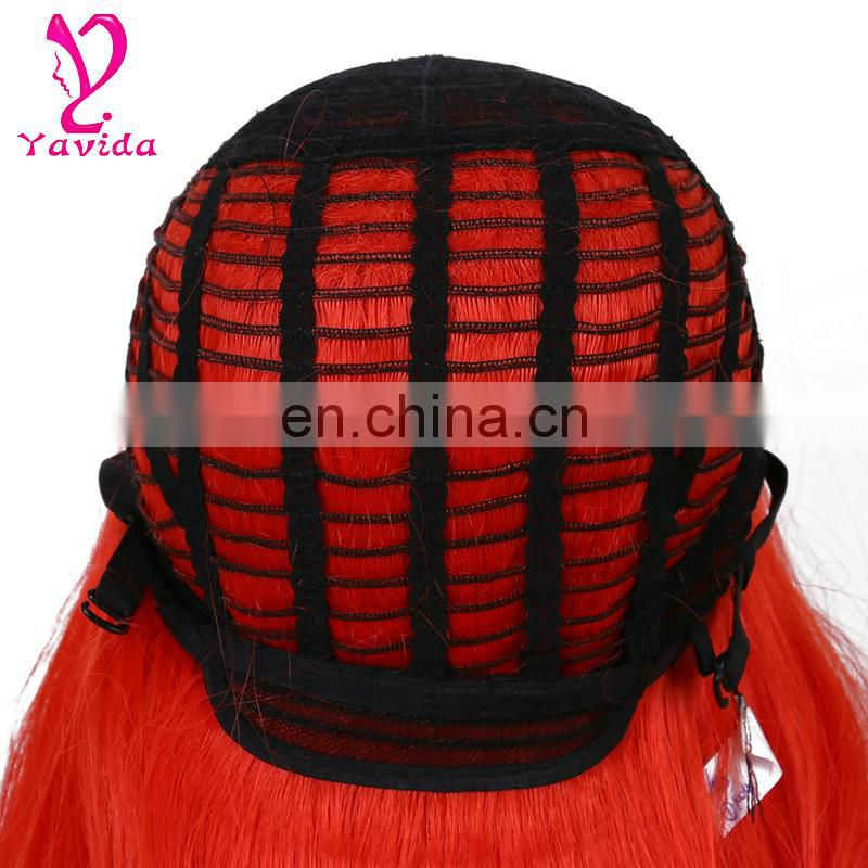 Red wig cosplay europe fashion cosplay wigs long body wave wig cosplay