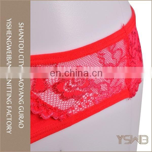 Good quality hot sexy comfortable cotton lace t-back female panty