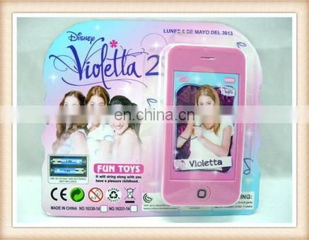 Hot sell violetta toy phone with music and light