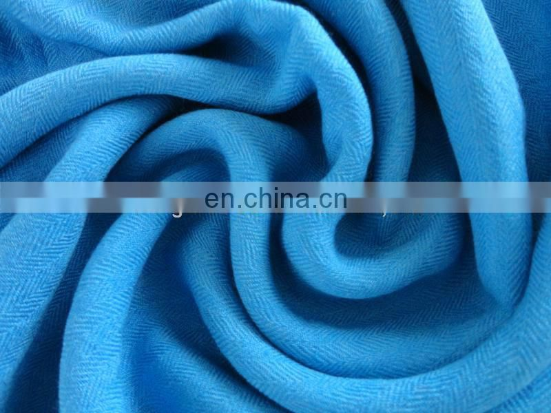 120S*60S herringbone worsted woven wool silk fabric