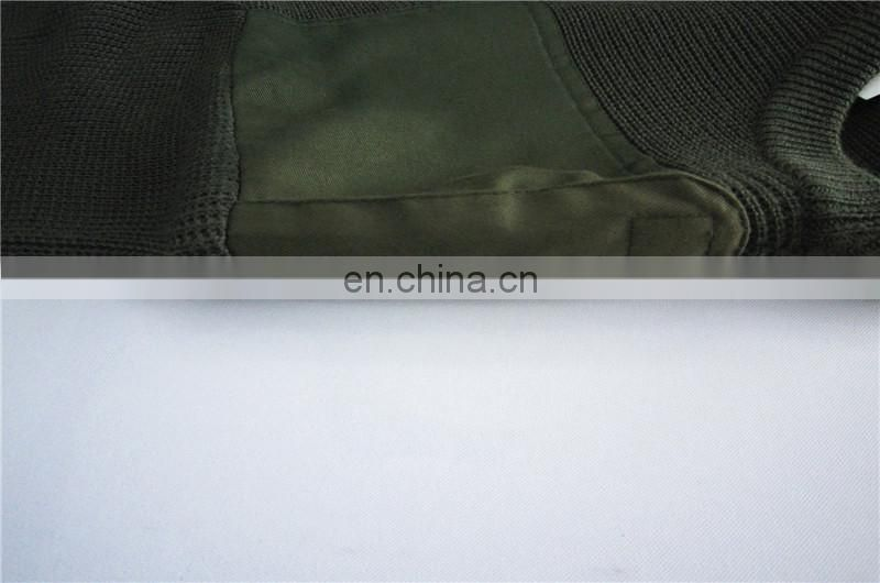 Wool Acrylic Camouflage Military Pullover