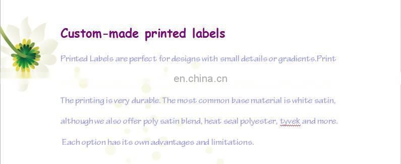 washing care label symbols printing fabric labels of Printed