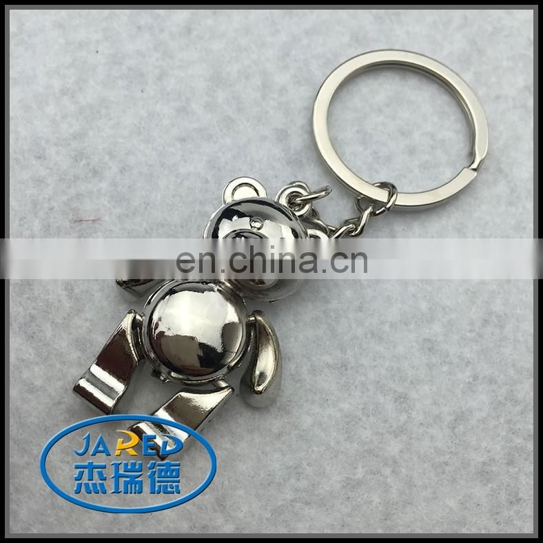 Cheap Metal Teddy Bear Keychain With Ring Bear Shape Keyring