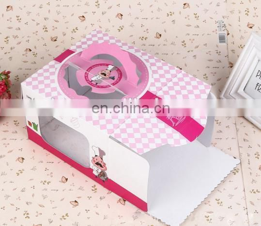 2015 custom folding 350gsm art paper & paper 10inch box with handle