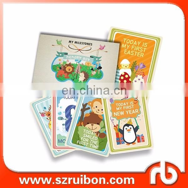 Baby Milestone Cards - Set of 36 Photo Cards to Capture Your Baby's 'First Year Highlights