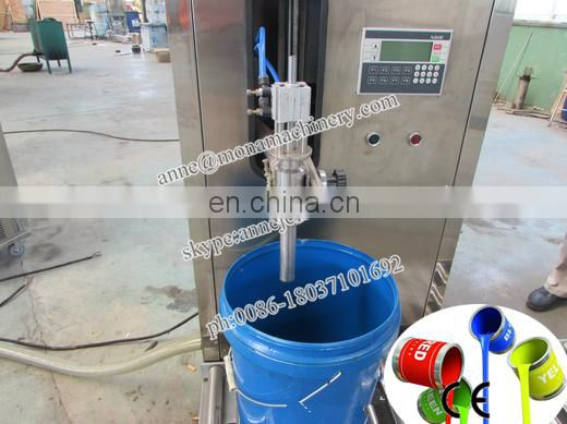 Semi-auto Paint Weight Filler+Capping Machine