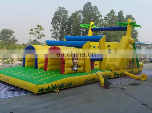 Commercial grade inflatable Jungle obstacle course for sale