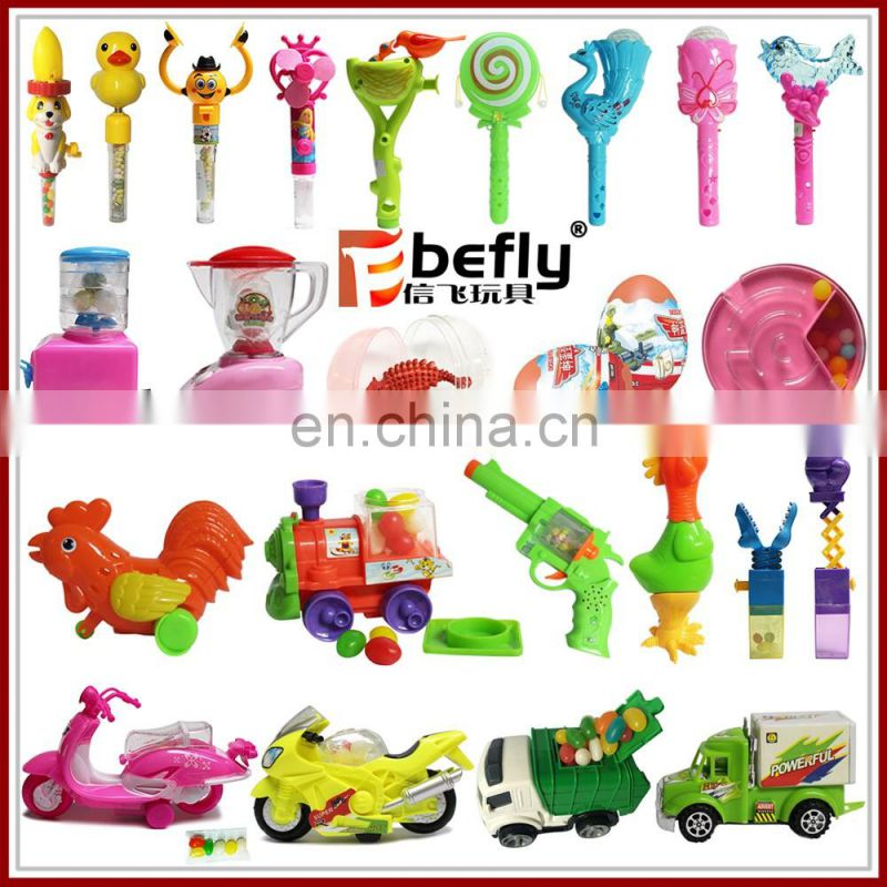 Shantou factory custom set plastic candy filled toys wholesale