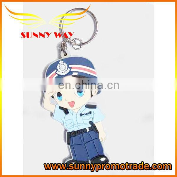 2017 Cheap wholesale Soft PVC Keychain with Christmas gifts