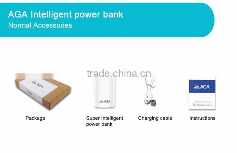 Aga Smart 10000mah Power Bank For Iphone Portable Small Usb