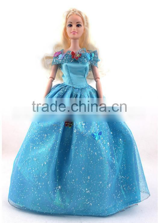 2015 New Cinderella Boneca De Dom For Baby Girls Cinderella Royal Ball for Kids Girls La Bambola Singing Dolls for Children