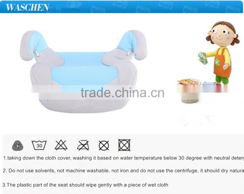made in china back cushion for car seat baby Car Seat For 15-36KG with extra belt printing design