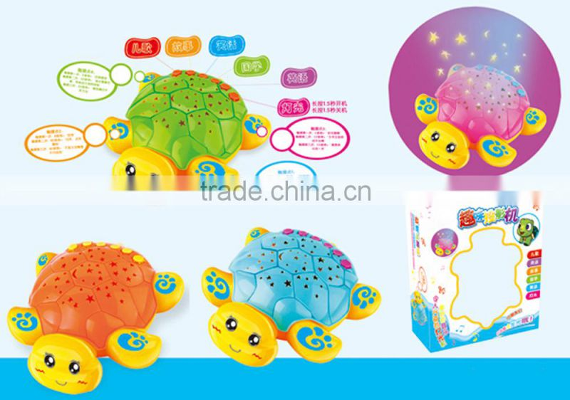Charming toy projector lamp baby with music