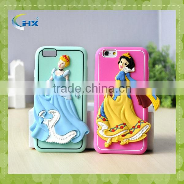 Cute princess 3D design mobile phone back cover