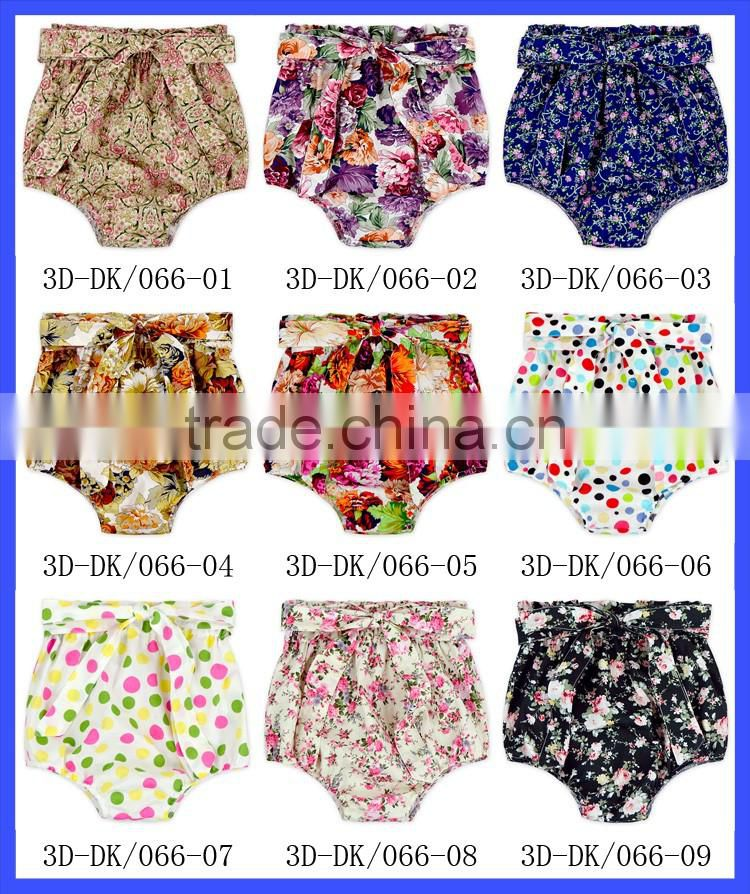 Baby Girls Flower Cotton Ruffle Diaper Cover Bowknot Back Tutu Bloomer