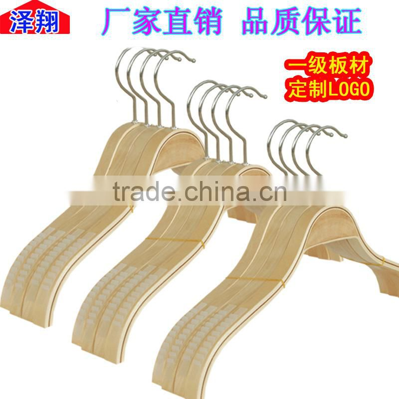 Hot selling walnut wood hanger with metal hooks scarfs tie and belt wood hanger