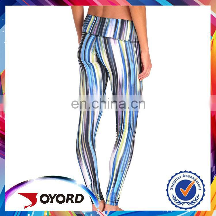 High waist ladies custom made compression leggings