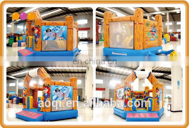 AOQI big discount amazing newest design inflatable jumping bouncer for kids