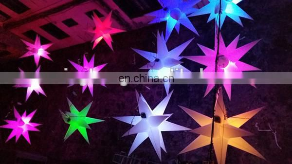 16 kinds of colors inflatable stars for house decoration