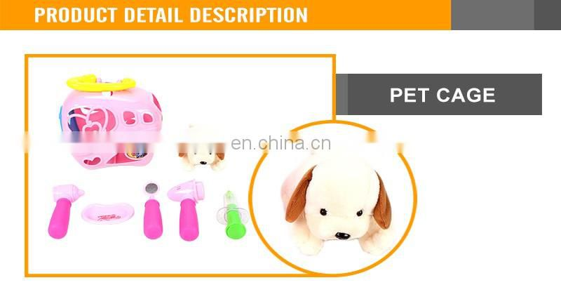 Lovely Pet Cage Toys With Doctoer Sets And A Plush Dog