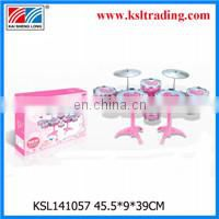 Children to play with drum kit toy play of happy