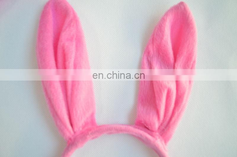 Pink Plush Easter Bunny ears headband set