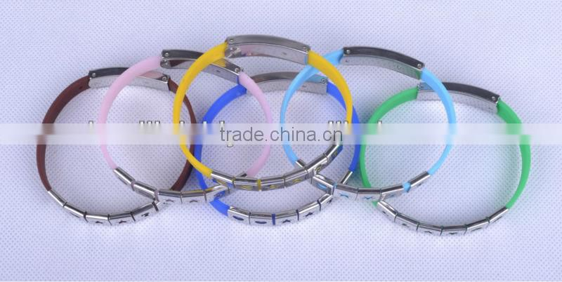 silicone bracelet with metal clasp