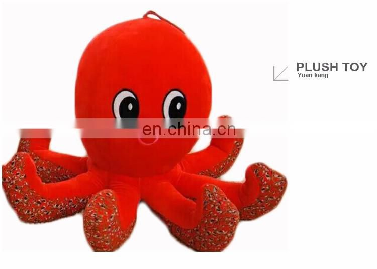 Hot sale custom plush stuffed octopus dolls baby toy