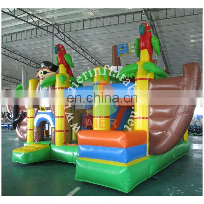 inflatable pirate ship for fun,inflatable bouncy slide for sales