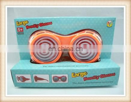 Plastic kids goofy crazy party glasses toy, funny spectacles toy