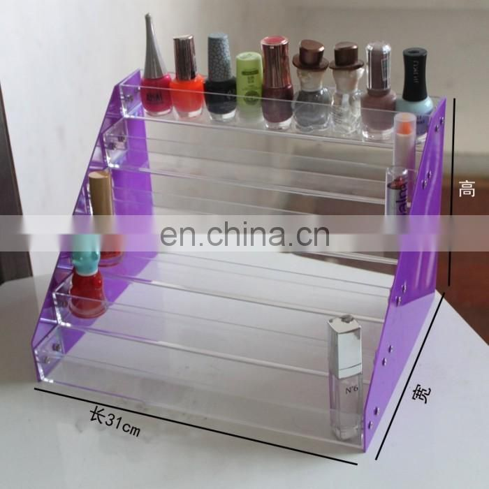 2017 new style assembled pmma nail polish holder plexiglass nail polish display acrylic nail polish display stand