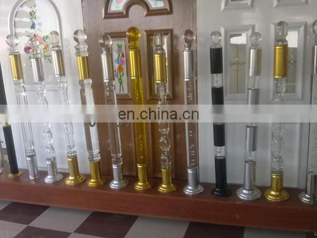 transparent and good-looking acrylic fancy bar stair handrail