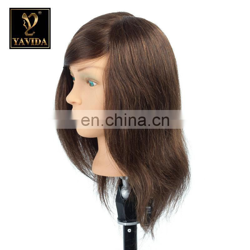 Wholesale Beauty Salon Equipment Female Mannequin Head 100% Human Hair Barber Pricetice Black Training Mannequin Head