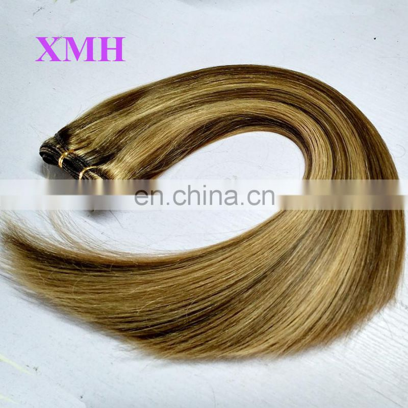 Best Selling No Tangle No Shed Colored brazilian Straight Human Hair Weave