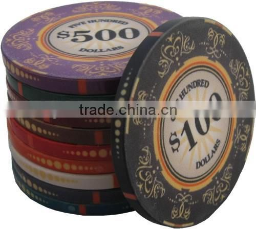 Plastic Pocker Chips 43mm chips make a great addition to any poker set and are used for higher values than traditional poker