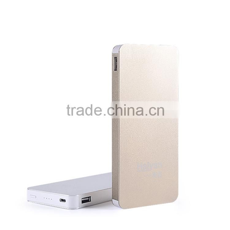 10000mAh polymer metal power bank 5v 2a for samsung sony iphone