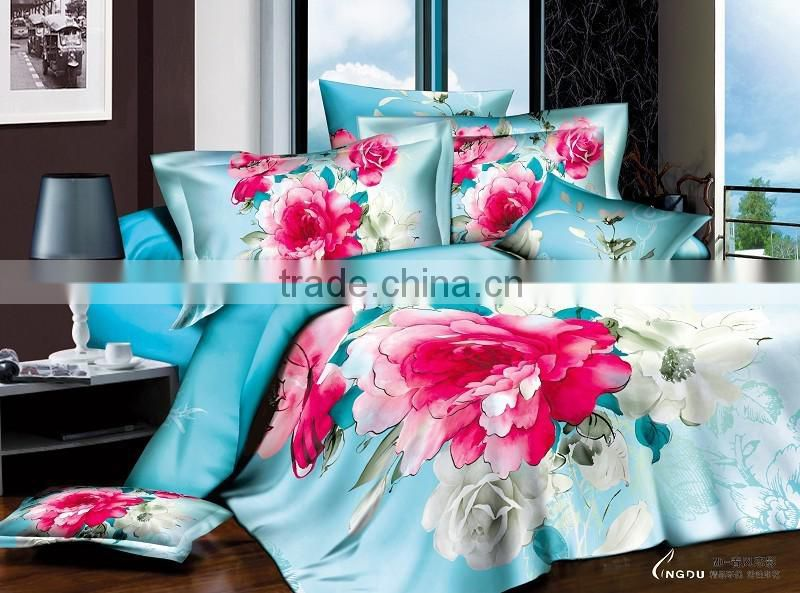 Hot sale!Home textiles,New style Flowers posture 3D bedding sets for sale
