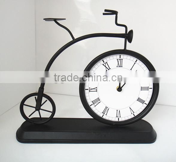 RH-4715 Antique Metal Bicycle Mantel Interior digital time clock Table Clock